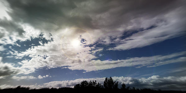 dramatic clouds V Print by Nafets Nuarb