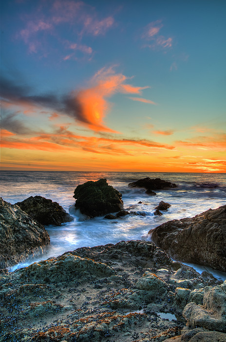 Dramatic Sunset Print by Chasethesonphotography