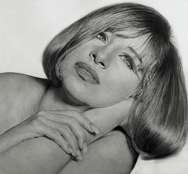 Mark Montana - Drawing of Barbra Streisand