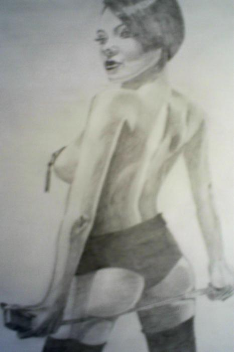 drawing of Vikki Blows Print by James Dolan
