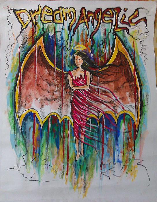 Dream Angelic Print by Rohit Kumar