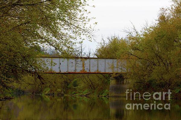 Dreary Bridge Dreary Day Print by Alan Look