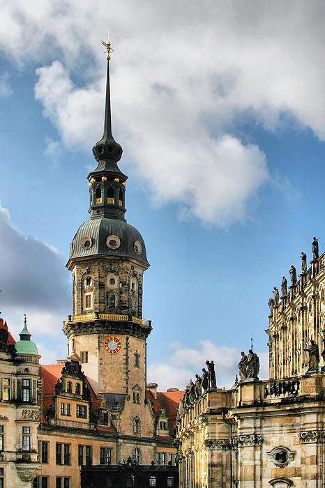 Dresden Hausmannsturm - Housemann Tower Print by Christine Till
