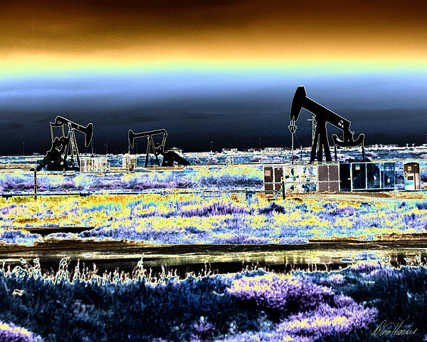 Drilling For Black Gold Print by Diana Haronis