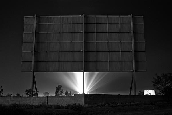 Drive-in Theater - After The Dust Storm Print by Nick Florio