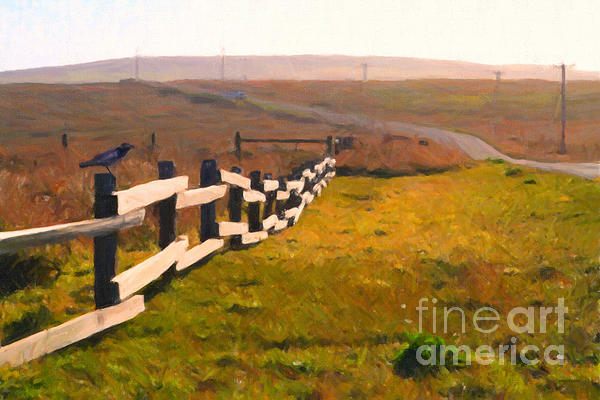 Driving Down The Lonely Highway . Study 1 . Painterly Print by Wingsdomain Art and Photography