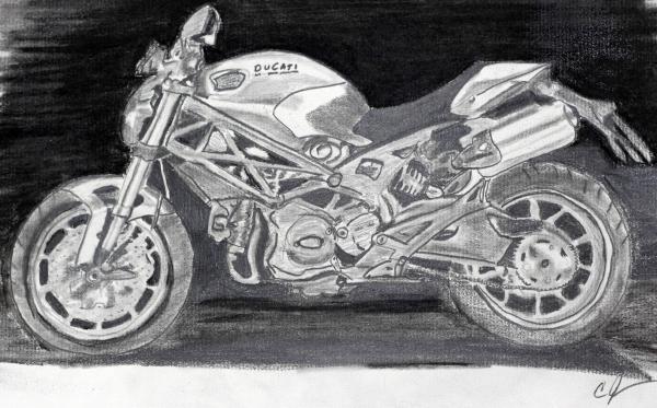 Ducati Print by Cathy Jourdan