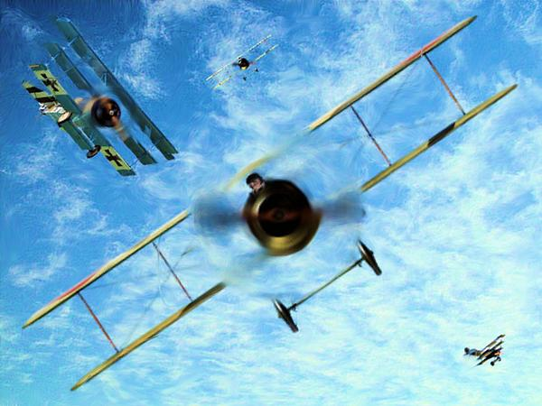 Duelling Kites Print by Garry Staranchuk
