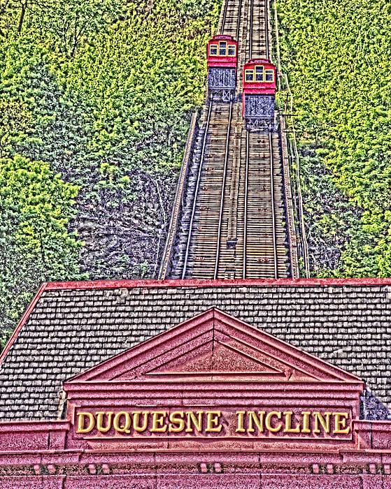 Duquesne Incline Art Print by Tom Leach