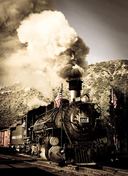 Durango - Silverton Railroad Print by Adam Pender