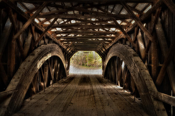 Durgin Covered Bridge - Hdr  Print by Thomas Schoeller