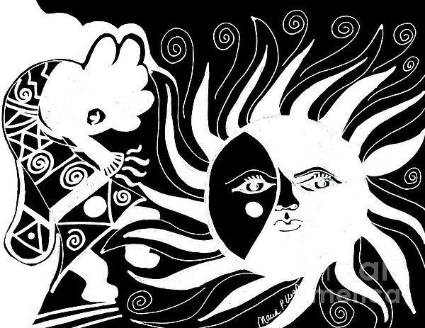 Dusk Dancer - Inverted Print by Maria Urso