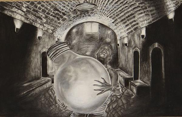 Dying Soul Print by Kodjo Somana