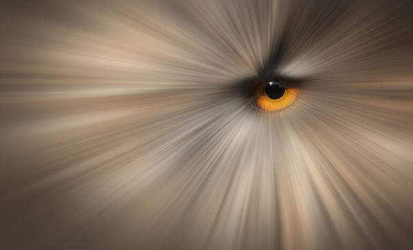 Eagle Owl Eye Abstract Print by Andy Astbury