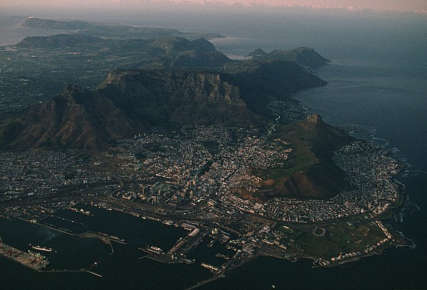 Early Morning Aerial View Of Cape Town Print by James L. Stanfield