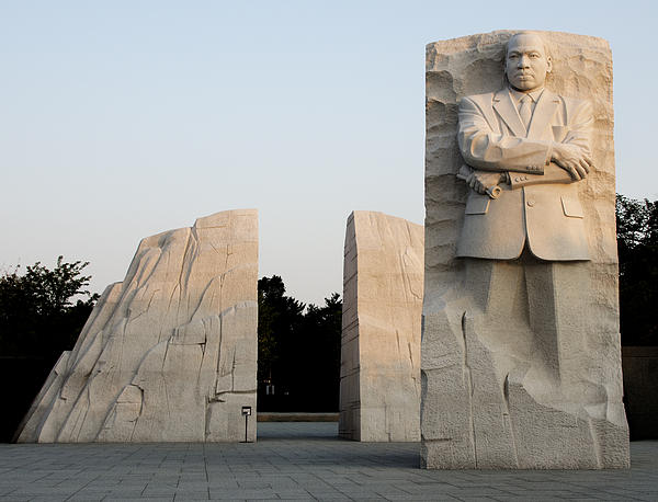 Early Morning At The Martin Luther King Jr Memorial - Washington Dc Print by Brendan Reals