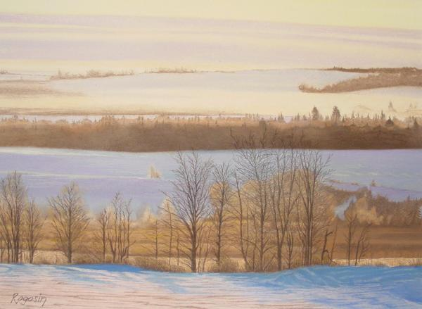 Early Morning Haze Pastel  - Early Morning Haze Fine Art Print
