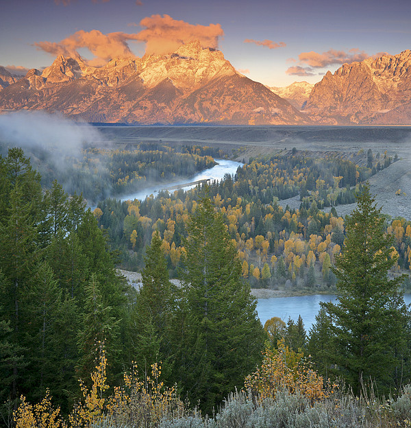 Early Morning On The Snake River Print by Drew Rush