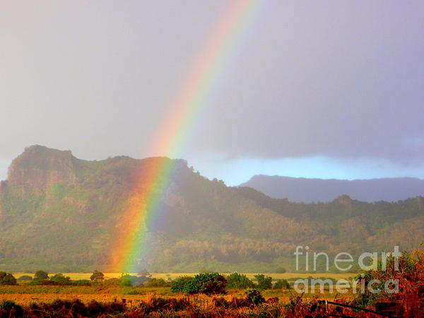 Mary Deal - Early Morning Rainbow at Sleeping Giant Mountain