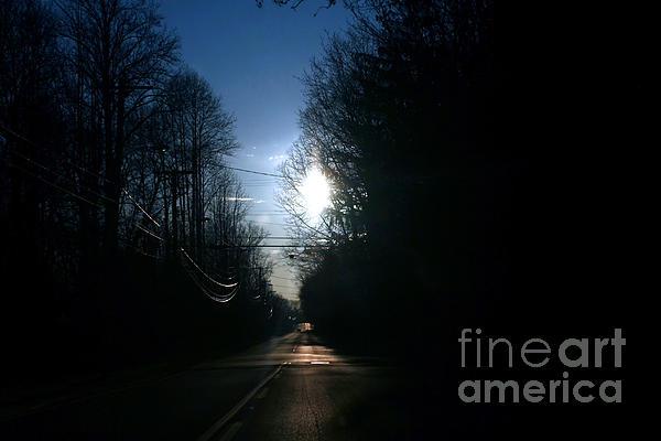 Early Morning Rural Road Print by Susan Stevenson