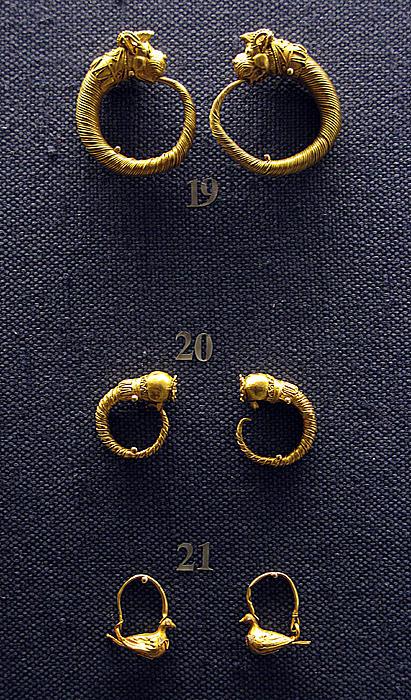 Earrings Print by Andonis Katanos