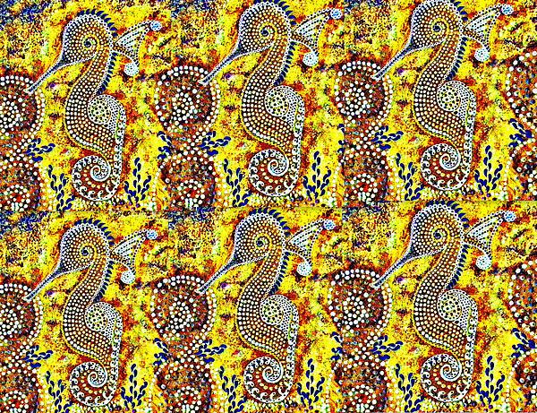 Earth Tone Seahorse  Print by Tania Te Moananui