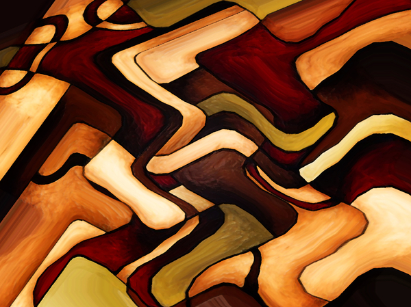 Earth Weave Print by Vicky Brago-Mitchell