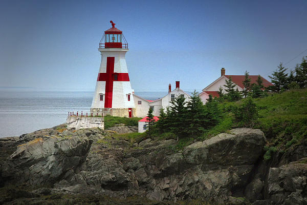 East Quoddy Lighthouse Print by Robert Wicker