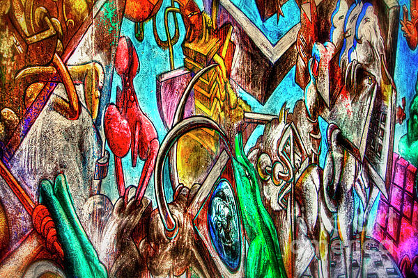 East Side Gallery Print by Joan Carroll