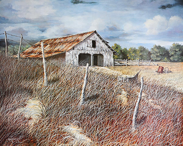 East Texas Barn Painting  - East Texas Barn Fine Art Print