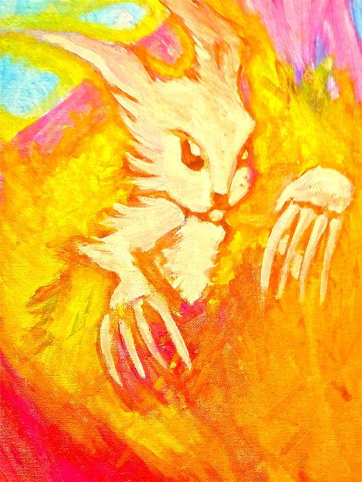 Easter Earthquake Print by Zitlalli Rodriguez