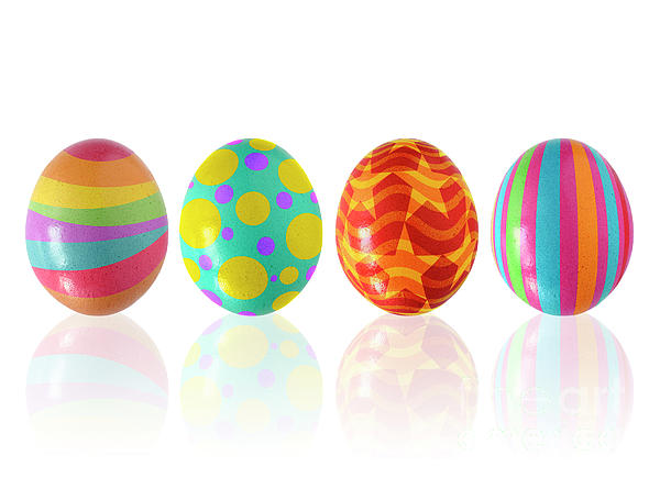 Easter Eggs Print by Carlos Caetano