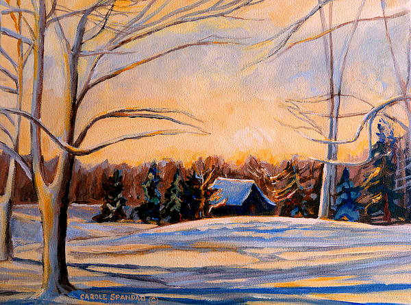 Eastern Townships In Winter Painting