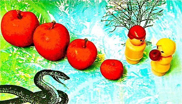 Eating Apples Print by Ricky Sencion