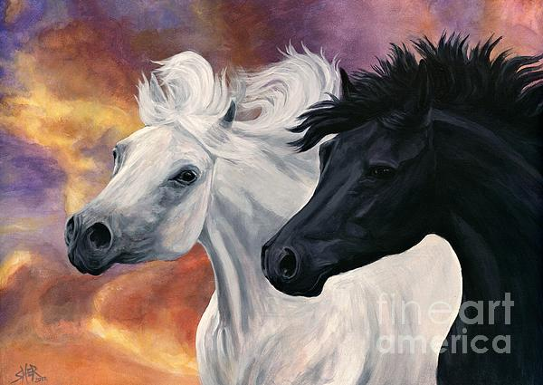 Ebony And Ivory Print by Sheri Gordon