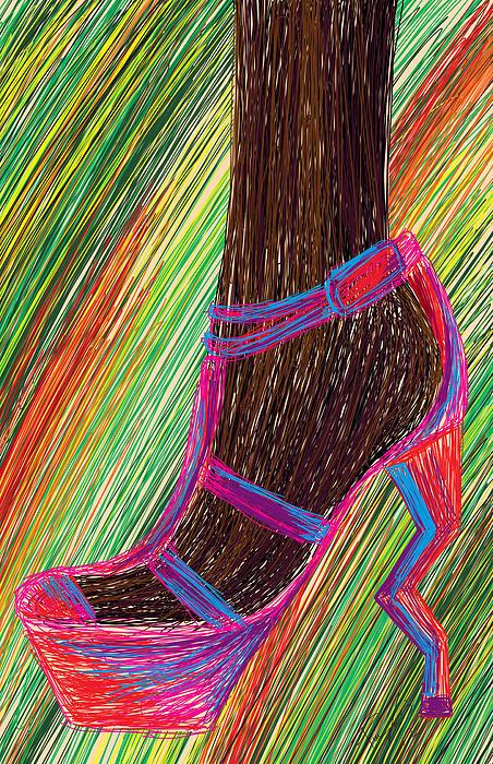 Ebony In High Heels Print by Kenal Louis