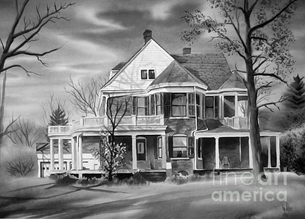 Edgar Home Bw Print by Kip DeVore