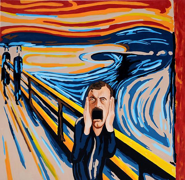 Edvard Munch - The Scream Print by Dennis McCann