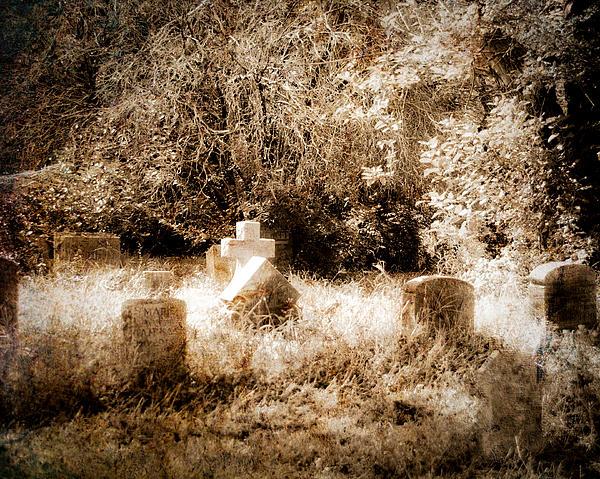 Eerie Cemetery Print by Sonja Quintero
