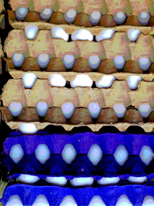 Egg Crates By Darian Day Print by Olden Mexico