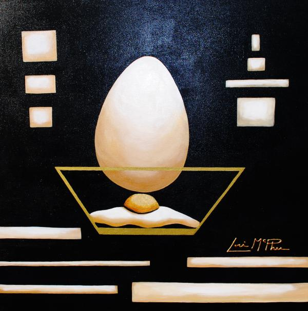 Egg In A Bowl Painting