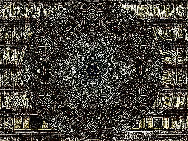 Egipto Mandala Print by Sonia Glez