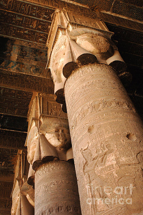 Egypt Temple Of Dendara Print by Bob Christopher