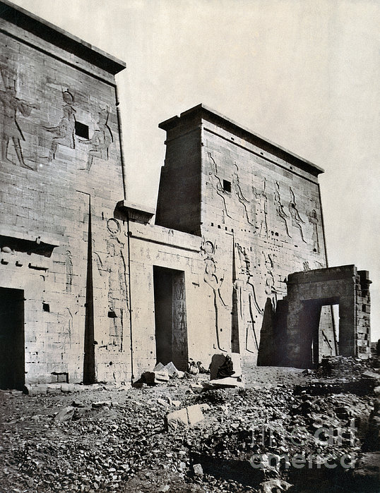 Egypt: Temple Of Isis Print by Granger
