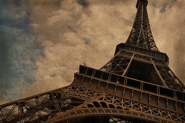 Eiffel Tower 2 Print by Mary Machare
