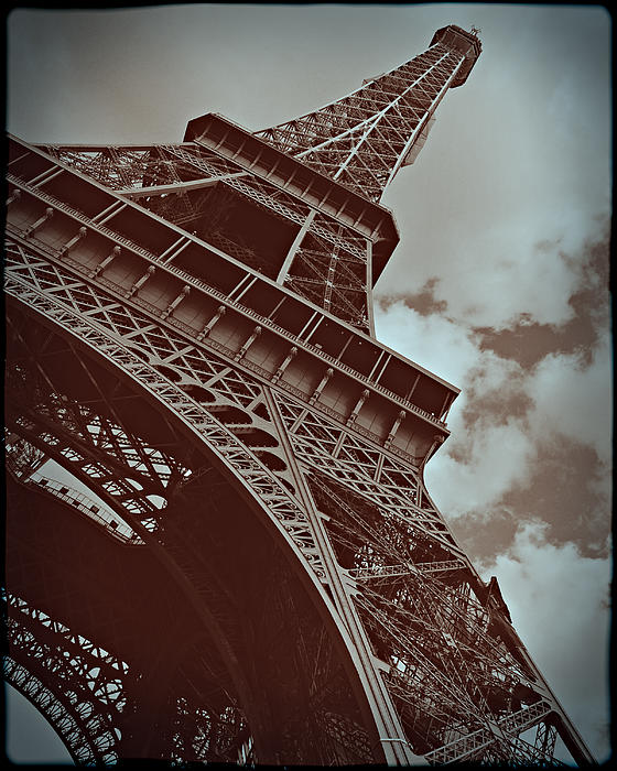 Eiffel Tower Print by Tatiana Parmeeva