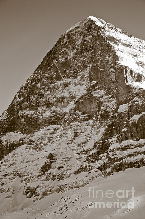 Eiger North Face Print by Frank Tschakert