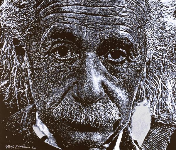 Einstein Print by Max Eberle