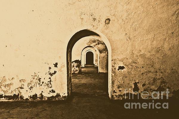 El Morro Fort Barracks Arched Doorways San Juan Puerto Rico Prints Rustic Print by Shawn O'Brien