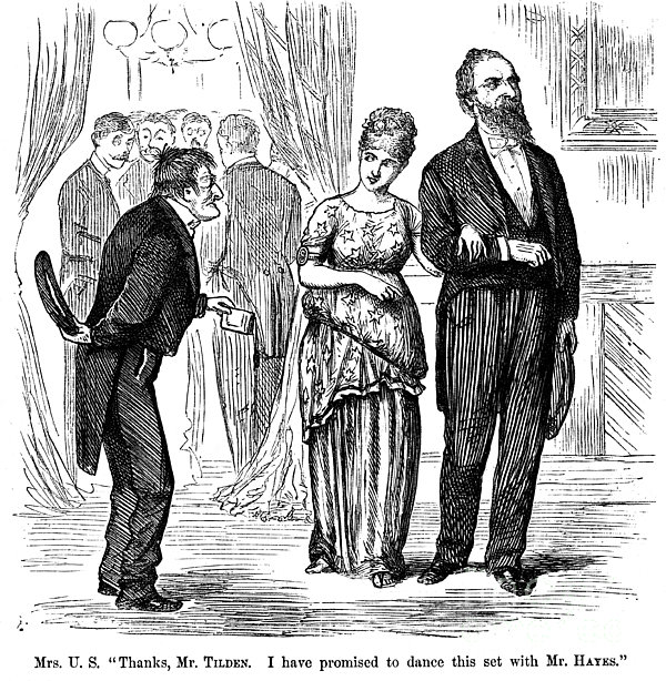 Election Cartoon, 1877 Print by Granger